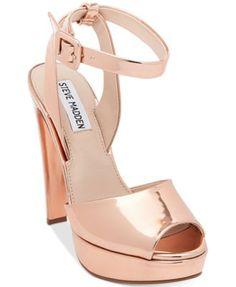 Steve Madden Women's Amber Two-Piece Platform Sandals | macys.com