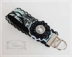 Wristlet Key Fob  Fabric Key Fob Keychain  by LittleMissHattitude, $8.00