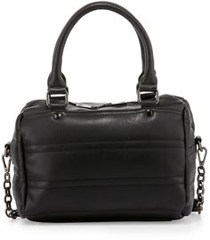 7176fe06e0 Neiman Marcus Quilted Faux-Leather Duffle Bag