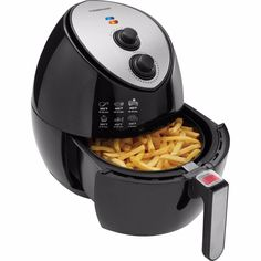 The Farberware Oil-Less Fryer uses circulating air to cook food to perfection without all the oil. This unit works as an oil-free fryer,. Oil Free Fryer, Oil Less Fryer, Cooks Air Fryer, Air Fryer Steak, Farberware Air Fryer, Best Air Fryer Review, Air Fryer Deals, Fryer Machine, Shopping