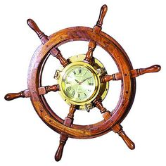 Ships Wheel Wall Clock