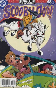 """Scooby-Doo (Scooby-Doo The gang chases a galloping ghost from the Wild West in """"Postal Ghost"""" and finds a scaly surprise lurking in the South Pacific in """"Creature from the Blue Lagoon! Cartoon Shows, Cartoon Pics, Cartoon Characters, Scooby Doo Images, Scooby Doo Pictures, Old Cartoons, Classic Cartoons, Hanna Barbera, Daphne Blake"""