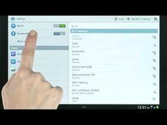 Setting Up Wi Fi and Bluetooth - Samsung Galaxy Tab 2 10.1 (AT&T, SGH i497) - YouTube