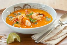 @WholeFoods: Savor this Thai-inspired soup that's perfect for fall! BUTTERNUT SQUASH & COCONUT SOUP W/ SHRIMP