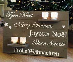 Tekstborden : Wandbord Kerst