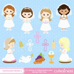 First Communion clipart Communion Digital Clipart by Cutesiness