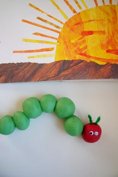 Eric Carle's The Very Hungry Caterpillar - in playdough (from Make, Do & Friend)