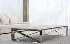 contemporary wood and metal coffee table CARLOTA BALTUS COLLECTION