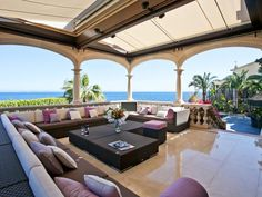 Outdoor lounge in outstanding residence in Cas Catalá, Mallorca.