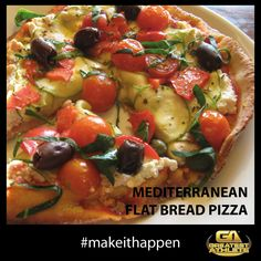 MEDITERRANEAN FLAT BREAD PIZZA   Greatest Athlete - Register at www.greatestathle... #makeithappen #greatestathleteau#fitness #exercise #wellbeing#inspiration #adventurechallenge#obstaclerace #crossfit #challenge#sport #health #fitspiration #fitspo#workout #Sydney #Melbourne #Canberra #Brisbane #Adelaide #Perth