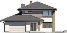 Projekt domu Karat 5 156,82 m2 - koszt budowy - EXTRADOM Modern Family House, Modern House Design, Duplex Design, My Dream Home, Dream Homes, Bungalow, Gazebo, House Plans, New Homes