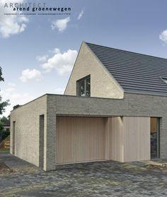 Moderne woning in grijze baksteen | Arend Groenewegen Architect BNA