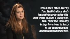That makes so much sense! Bonnie Wright on Ginny's relationship with Harry