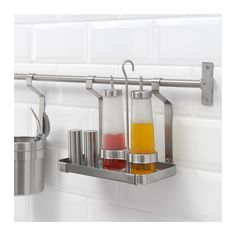 GRUNDTAL Shelf  - IKEA. would be good for dish soap, sponge, scrub brush, etc over sink