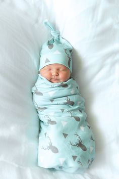 Organic Baby Boy Coming Home Outfit Deer Swaddle and by LilNells