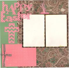 2 page Scrapbooking Layout Kit  Happy Easter / by CropALatteToGo, $10.00