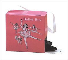 mattel dance box made from same material as the Barbie storage box. I had this too until I got serious about dance. From there it was a duffle bag