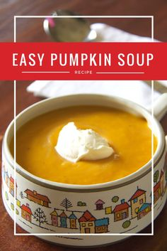 The easiest, most delicious pumpkin soup ever.  Just four steps and five ingredients!