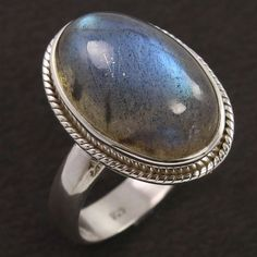 Real Fire LABRADORITE Oval Gemstone 925 Sterling Silver Ring Size US 9 Wholesale #Unbranded Silver Rings Handmade, Sterling Silver Bracelets, Silver Jewellery Indian, Labradorite Ring, Engraved Necklace, Real Fire, Gemstones, Traditional, Group