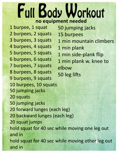 Created this workout from moves I've done with my trainer and ideas I found online! I usually add in some extra stuff to make it a full 30/40 min. Perfect if you can't make it to the gym!