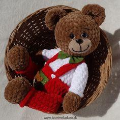 Háčkovaný medvedík Bohumil / tvorim-s-laskou - SAShE. Crochet Toys, Panda, Teddy Bear, Amigurumi, Manualidades, Tricot, Crocheted Toys, Pandas, Teddy Bears