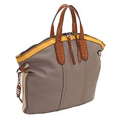 Sydney Calfskin Convertible Zip Top Tote SAND MULTI - Kind of in LOVE with this bag.