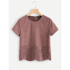 Scallop Laser Cut Out Top