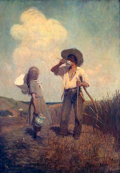 N. C. Wyeth (1882-1945) Mowing 1907 Oil on canvas, 37 1/2 x 26 3/4 in. (95.2 x 67.9 cm)