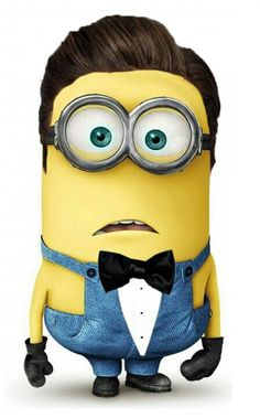 Minion Justin Timberlake is on his overalls and tie shit