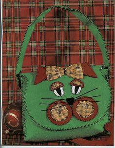 bolsa de gato by *** Feltro com carinho