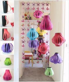 amazing DIY paper lanterns http://www.architecturendesign.net/20-amazing-diy-paper-lanterns-and-lamps/