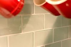colored suway tile backsplash - Google Search