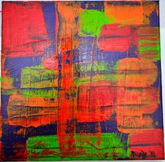 Why Worry.  8 X 8 Acrylic on canvas.  www.contempoartbynicole.blogspot.com