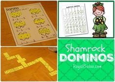 Shamrock Domino Math Fun for St. Patricks Day