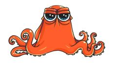 How to Draw Hank the Octopus from 'Finding Dory' step by step Cute Animal Drawings, Kawaii Drawings, Doodle Drawings, Disney Drawings, Cartoon Drawings, Cute Drawlings, Cute Art, Amazing Drawings, Easy Drawings