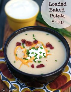 Loaded Baked Potato Soup, a simple technique makes this soup incredibly flavorful!