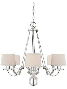 Sutton Place 6 Light Chandelier In Imperial Silver