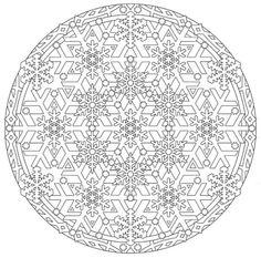 Mandala 735, Creative Haven Snowflake Mandalas Coloring Book, Dover Publications
