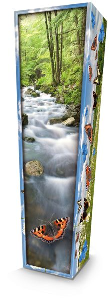 Butterflies Picture Coffin available nationwide with FREE delivery from The Coffin Company. http://coffincompany.co.uk/colourful-coffins/picture-coffins