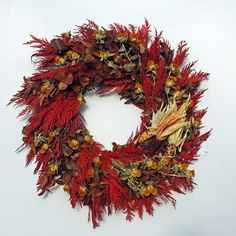 Giving Thanks Indian Corn Dried Wreath