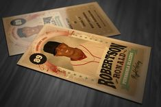 Retro Trading Card Template by CruzineDesign on Etsy