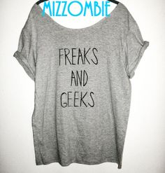 FREAKS and GEEKS off the shoulder flowy slouchy loose by Mizzombie, $25.00