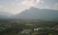 The Untersberg from the abbey, Fraulein Maria's view.