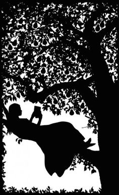 Matilda in the Pear Tree. Silhouettes of Laura Barrett. Her fairy tale silhouettes remind me of Arthur Rackham's.