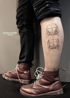 #beatle #linework #VW #tattoo