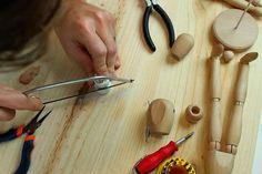 DIY: Luminária de mesa de boneco manequim