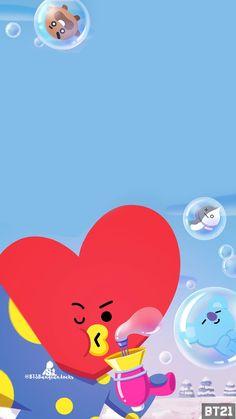 ♡ Bts Wallpaper, Iphone Wallpaper, Taemin, Chibi Bts, Les Bts, Bff, Line Friends, Bts Fans, Bts Group