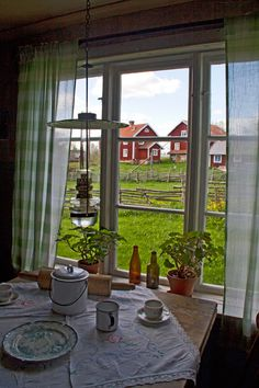 Åsens by, Småland, Sweden by Hercio Dias Swedish Cottage, Swedish Decor, Red Cottage, Swedish Style, Swedish House, Swedish Design, Cottage Windows, Scandinavian Living, Scandinavian Design