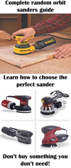 Woodworking Techniques The most complete random orbit sanders guide! Random orbit sanders are essential for surface preparation in woodworking and every woodworker should have one! - The best guide for orbital sanders you will ever find! Woodworking Toys, Learn Woodworking, Woodworking Techniques, Popular Woodworking, Woodworking Furniture, Woodworking Projects, Wood Sanders, Best Random Orbital Sander, Cheap Power Tools