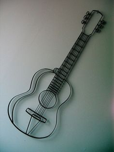 Really cool guitar wall art from www.giftyourguy.com